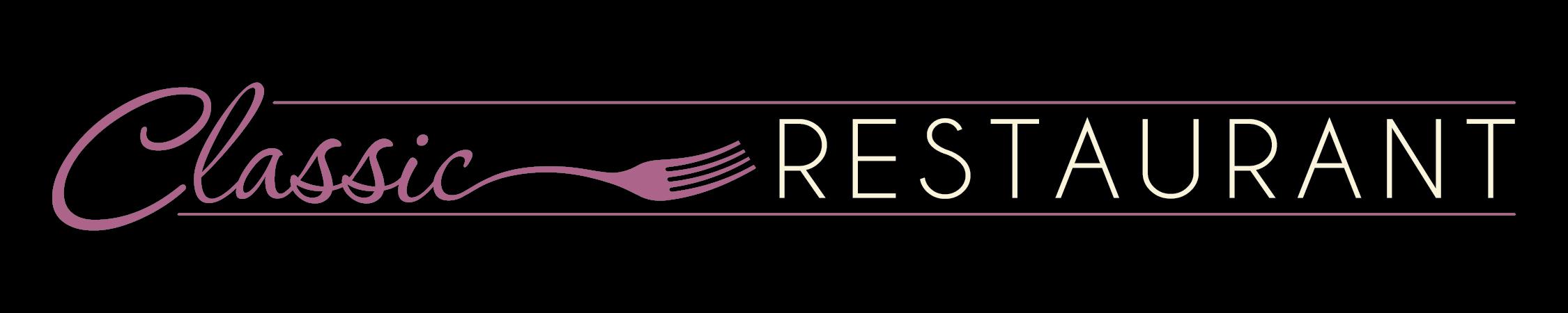 Classic Restaurant Long Logo